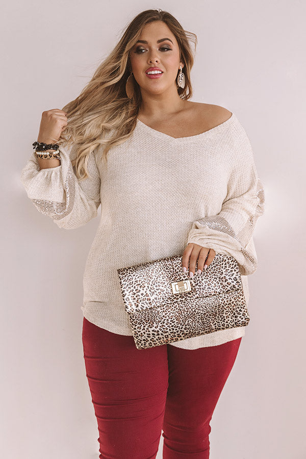 Ready Or Haute Waffle Knit Top In Birch
