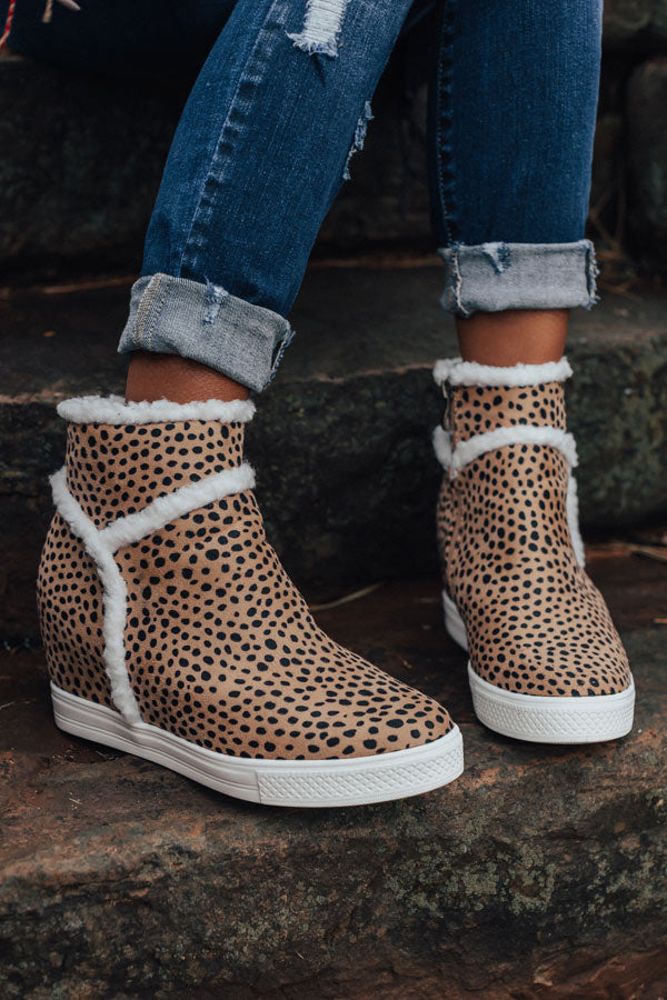 The Bryant Faux Suede Bootie In Cheetah Print