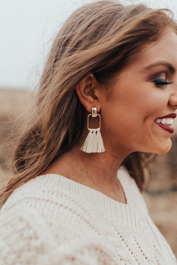 Pause For Perfection Earrings In Cream