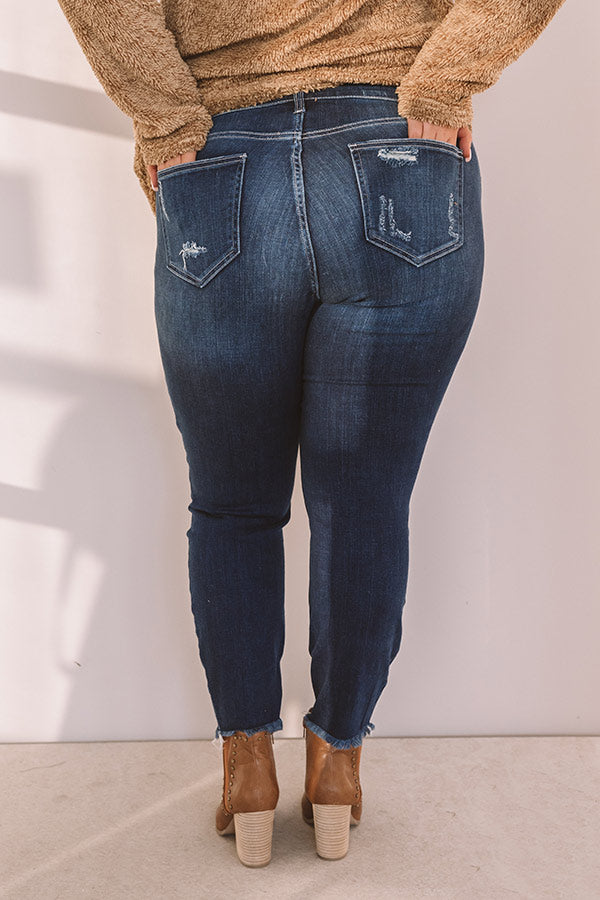 The Flora Midrise Distressed Skinny