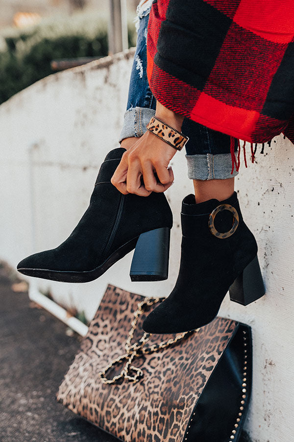 The Kelly Faux Suede Bootie