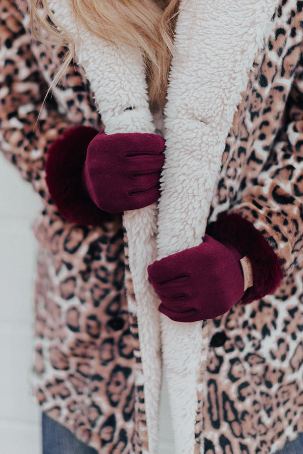 Snow What Fun Touch Gloves In Maroon