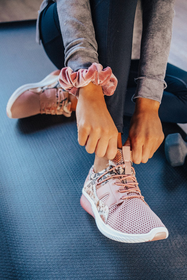 Always On The Go Sneaker In Blush