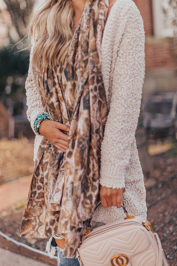 On The Rise Snake Print Scarf
