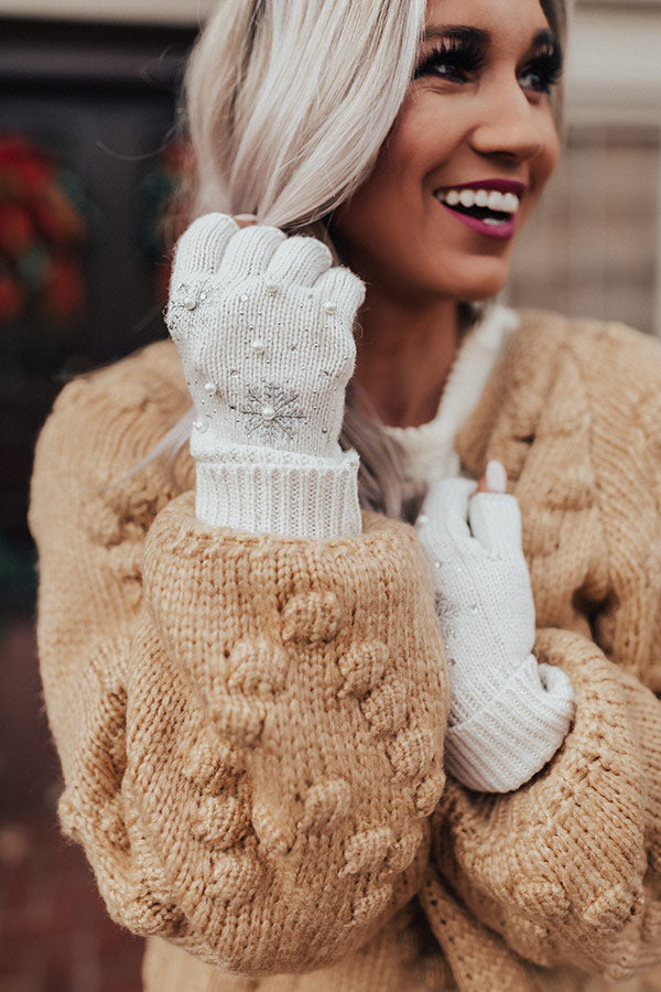 Christmas Cocoa Gloves In Ivory