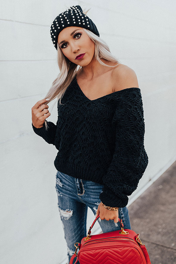 Fantastic In France Knit Sweater in Black