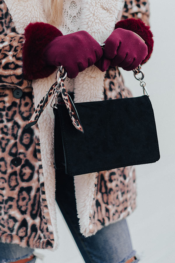 Party Bound Faux Suede Purse