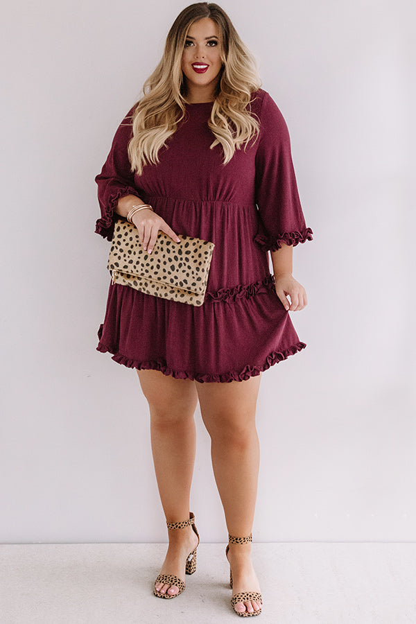 Force Of Fabulousness Shift Dress In Maroon