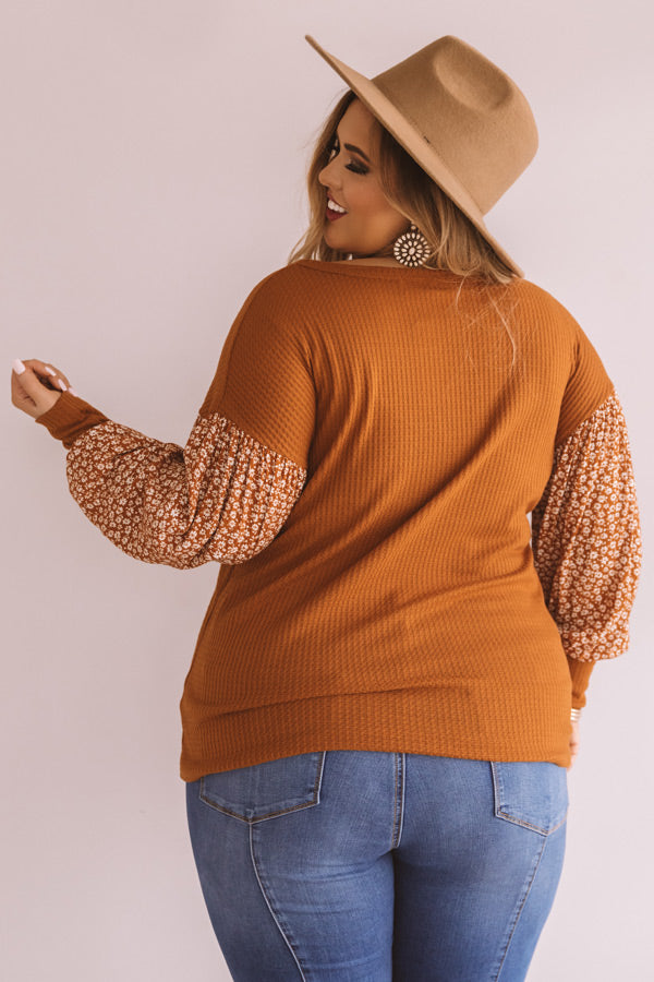 New Heights Waffle Knit Shift Top