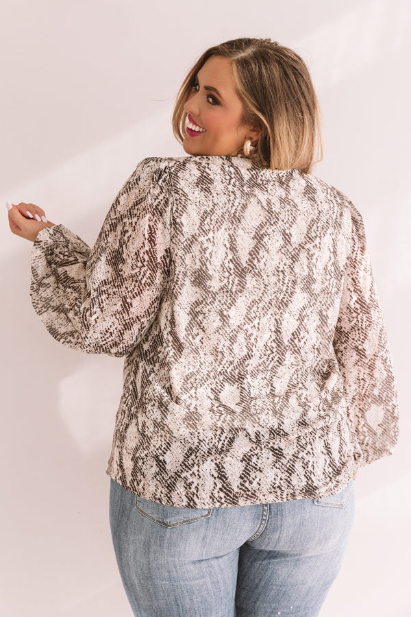 Forever In Fashion Snake Print Top