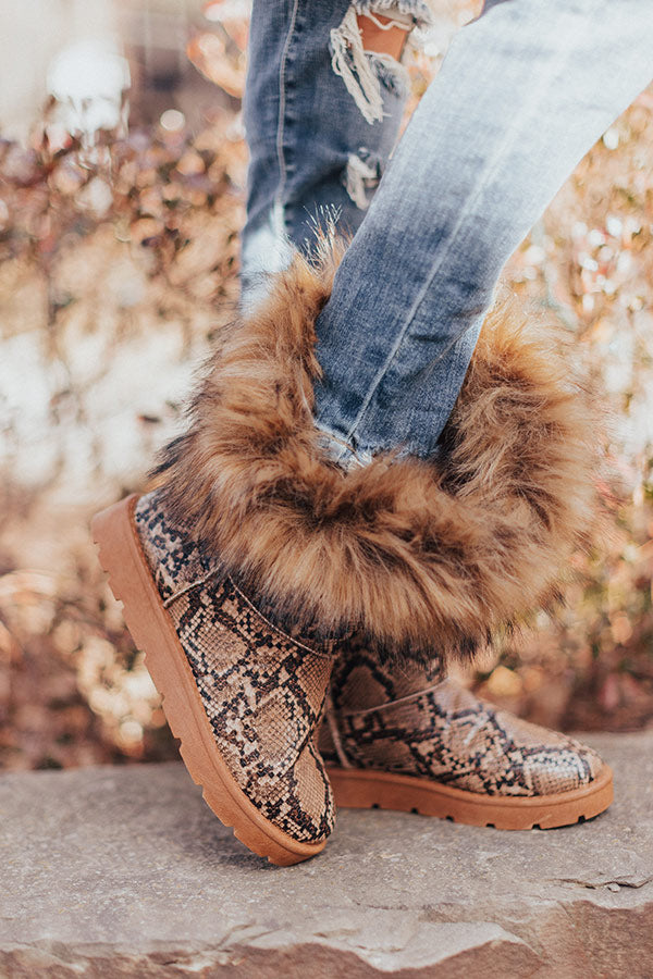 Getting Creative Snake Print Boot