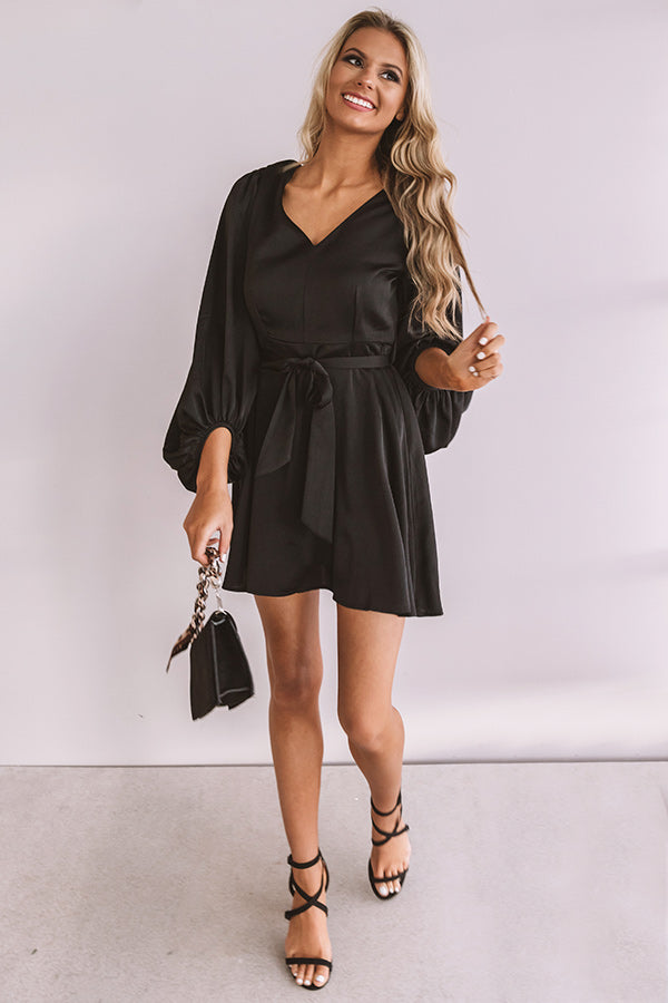 Secretly Smitten Dress in Black
