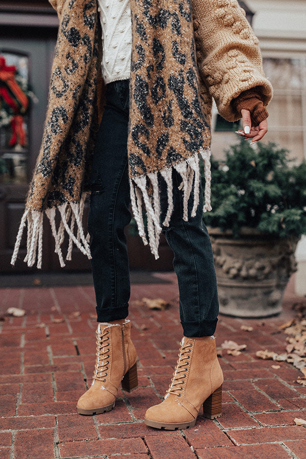 The Ashton Faux Fur Lined Boot In Tan