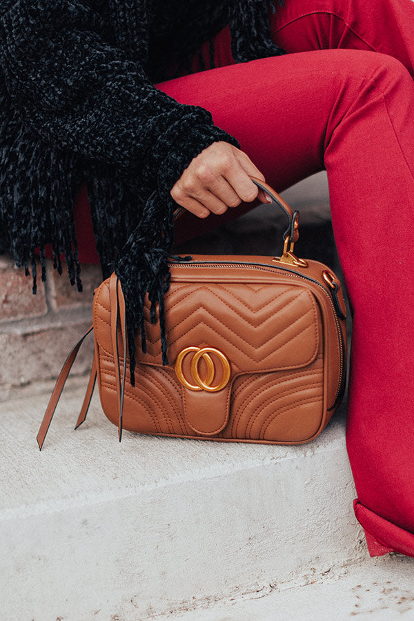 Bryant Park Views Quilted Crossbody In Brown