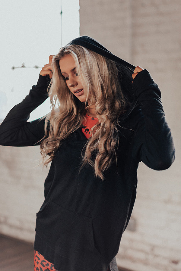 Cappuccino Run Hoodie In Black