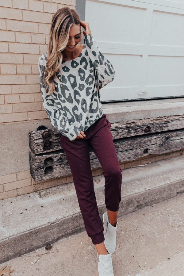 At Your Best Leopard Sweatshirt