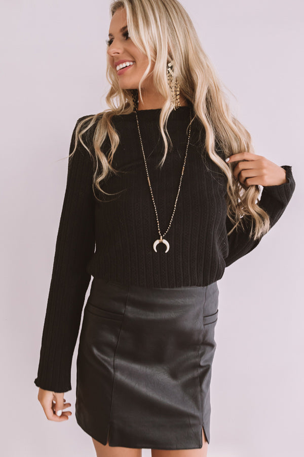 RSVP Me Ribbed Knit Top