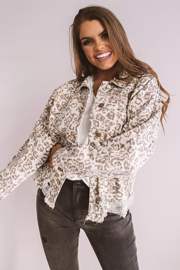 The Perry Distressed Leopard Jacket