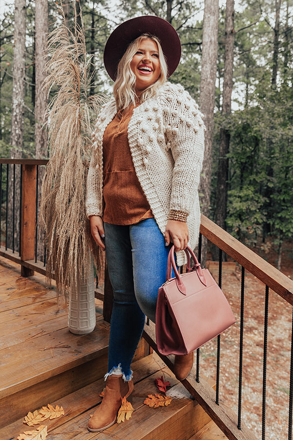 Falling In Love At The Lodge Knit Cardigan