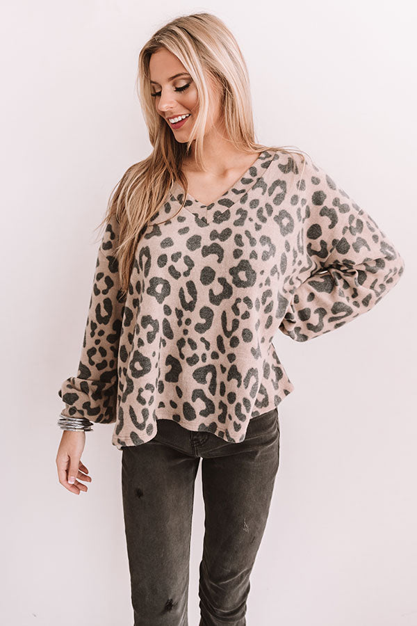 Plan For Perfection Leopard Shift Top