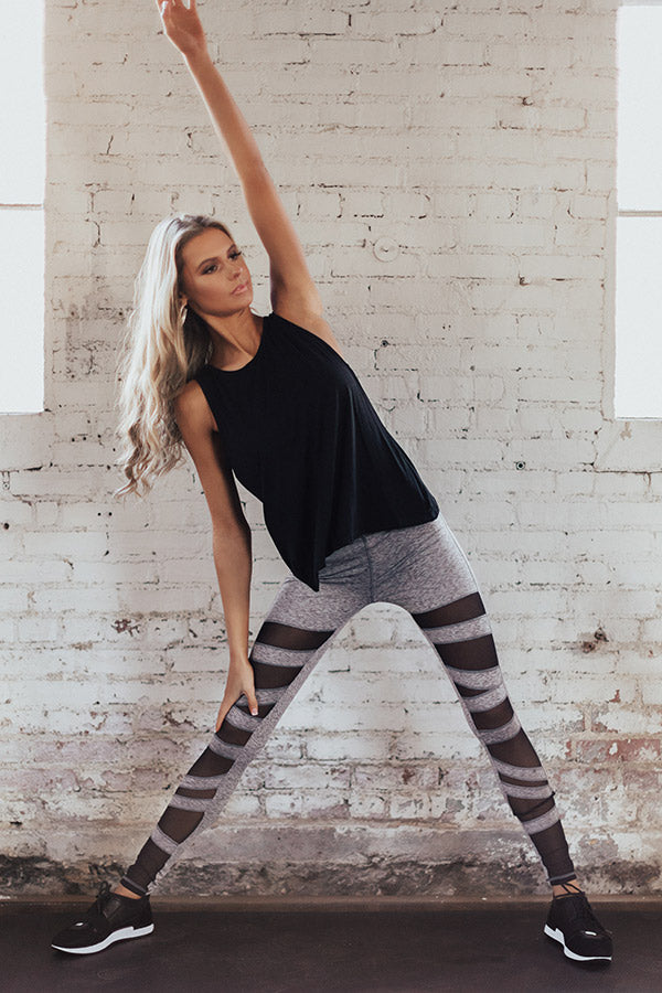 Record Setter Mesh High Waist Active Legging