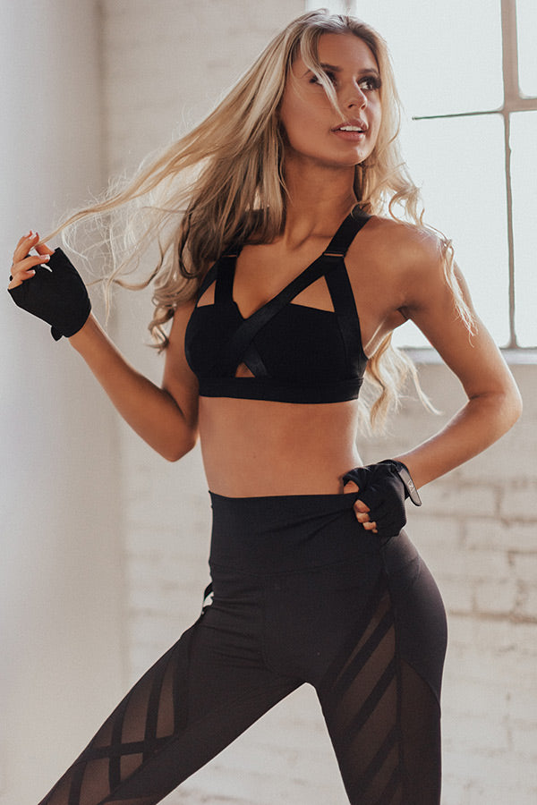 Bombshell Bootcamp Strappy Sports Bra