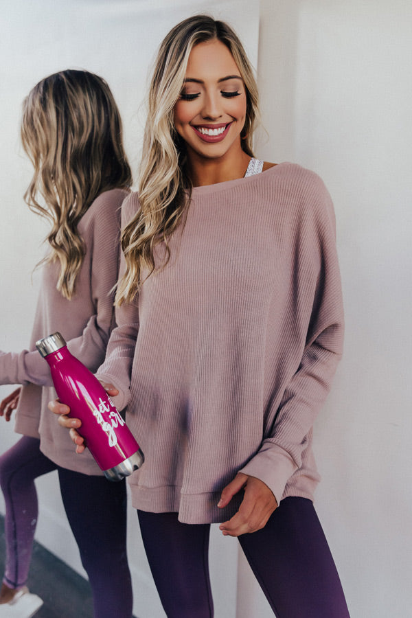 Take A Message Ribbed Sweatshirt