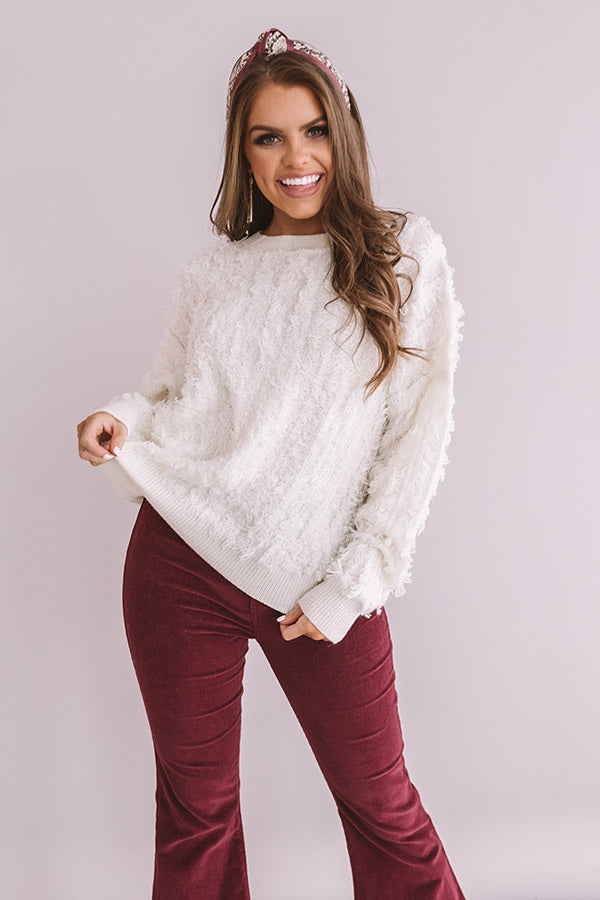 Cozy Welcome Knit Sweater in Cream