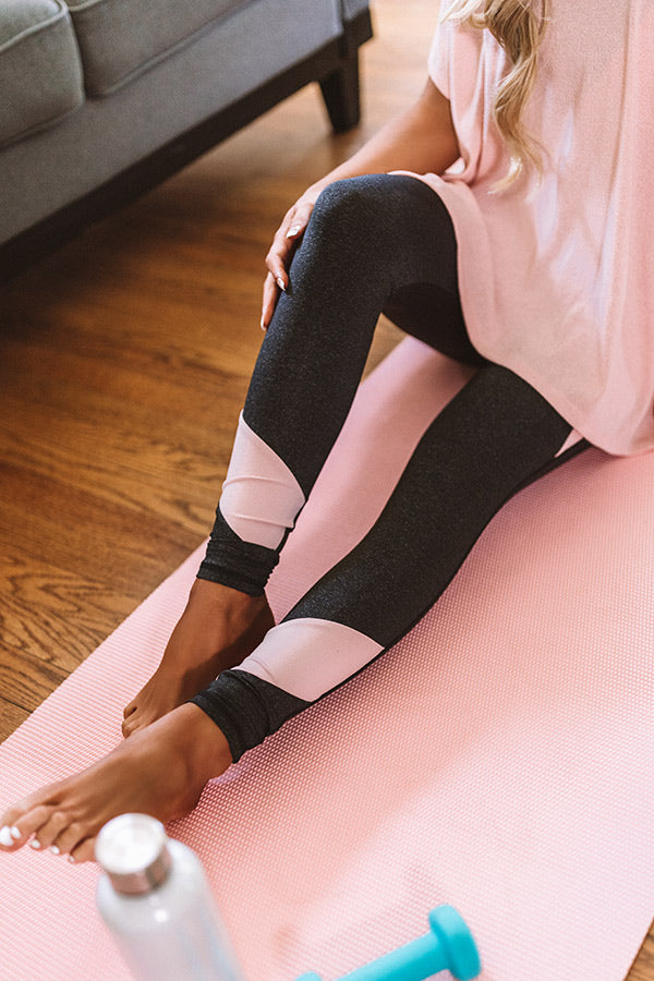 Hustle And Happiness High Waist Active Legging