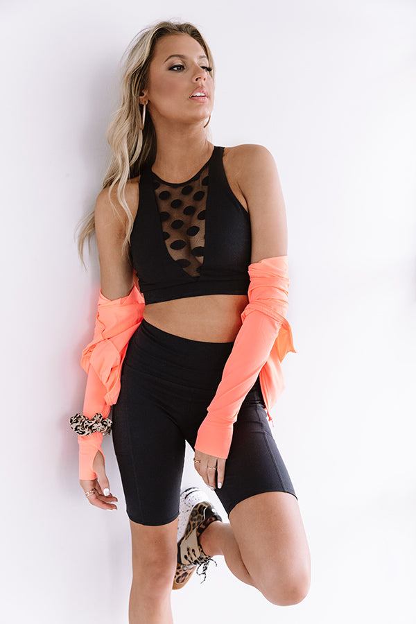 Pretty On Point Mesh Cutout Sports Bra