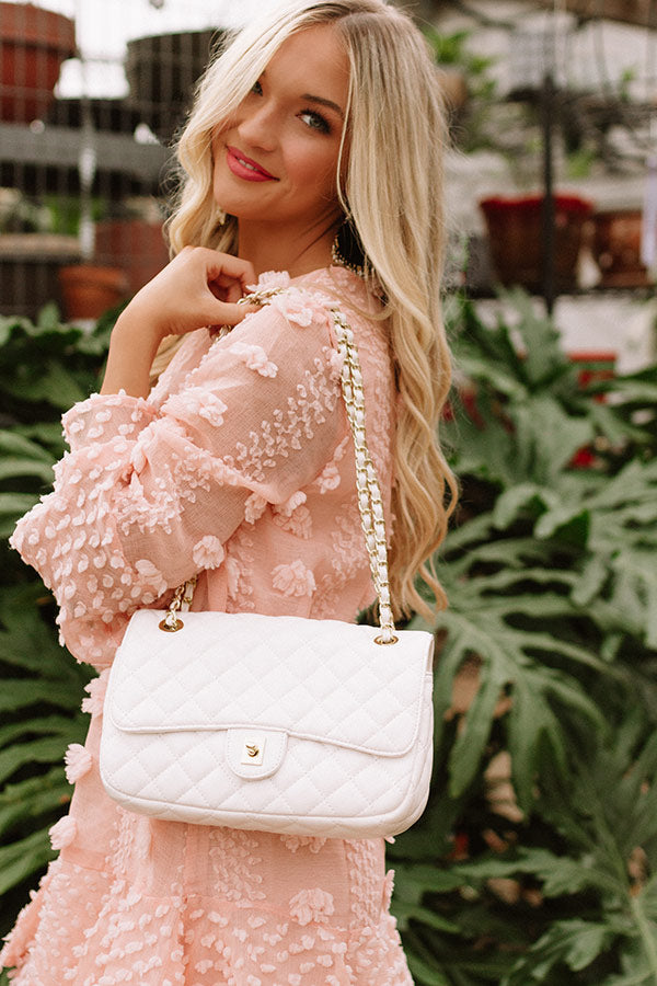 First Class Forever Quilted Crossbody In White