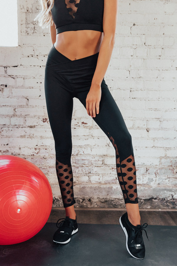 Pretty On Point Mesh High Waist Active Legging