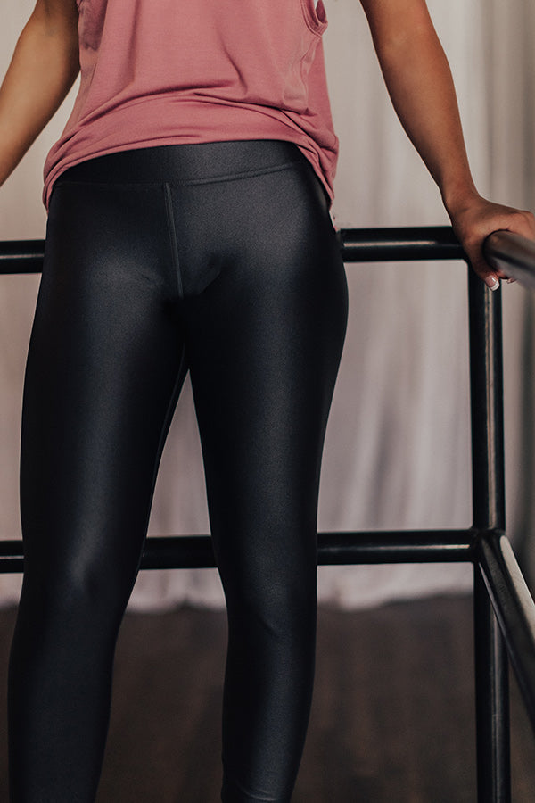 Think Happy Thoughts High Waist Legging in Charcoal