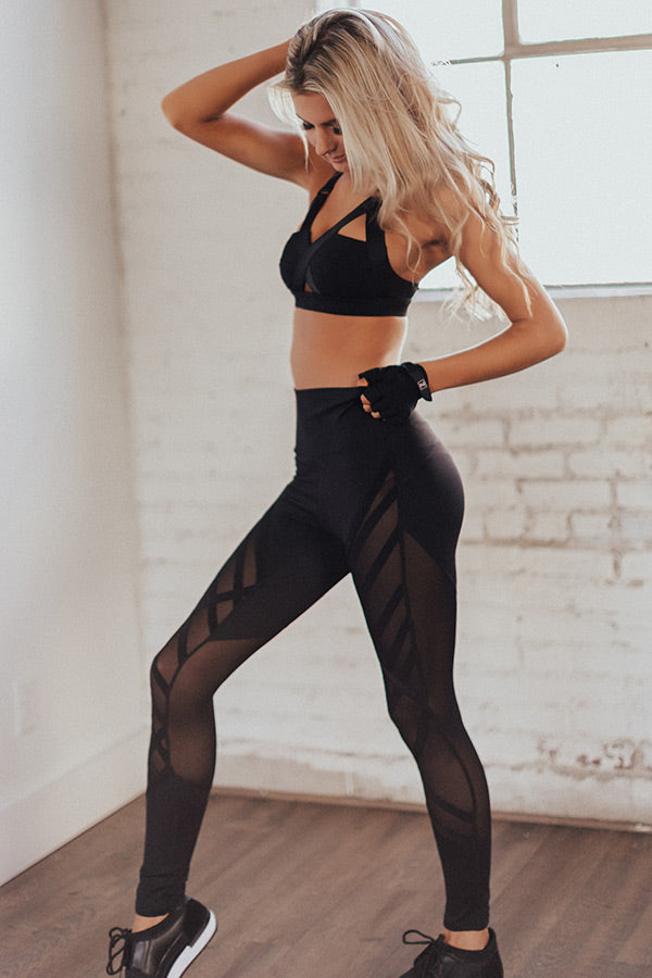 Barre Class Mesh High Waist Active Legging