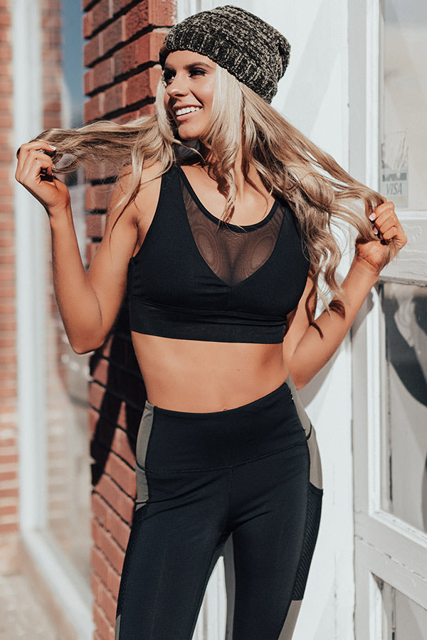 Spin Class Queen Mesh Sports Bra