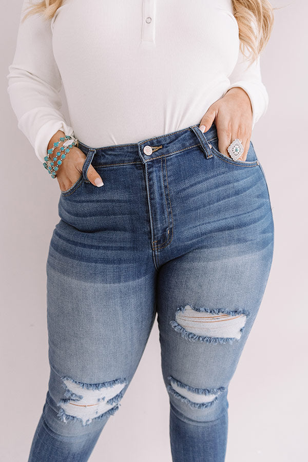 The Stella High Waist Distressed Ankle Skinny