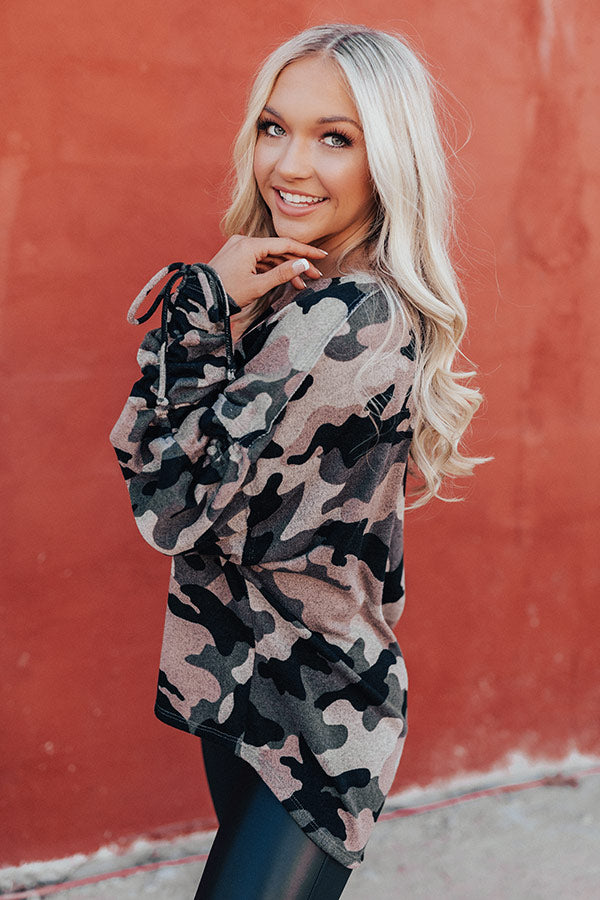 Favor The Fashionable Camo Shift Top
