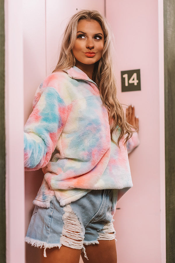Valley Vibes Pastel Tie Dye Pullover