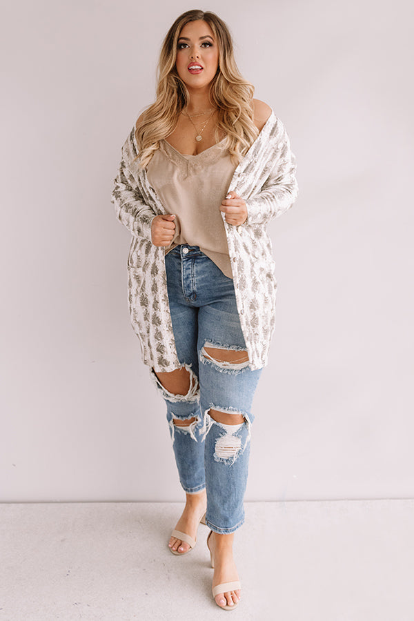 Chance To Charm Snake Print Cardigan