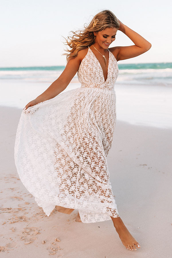 Toasting To Forever Lace Maxi Dress
