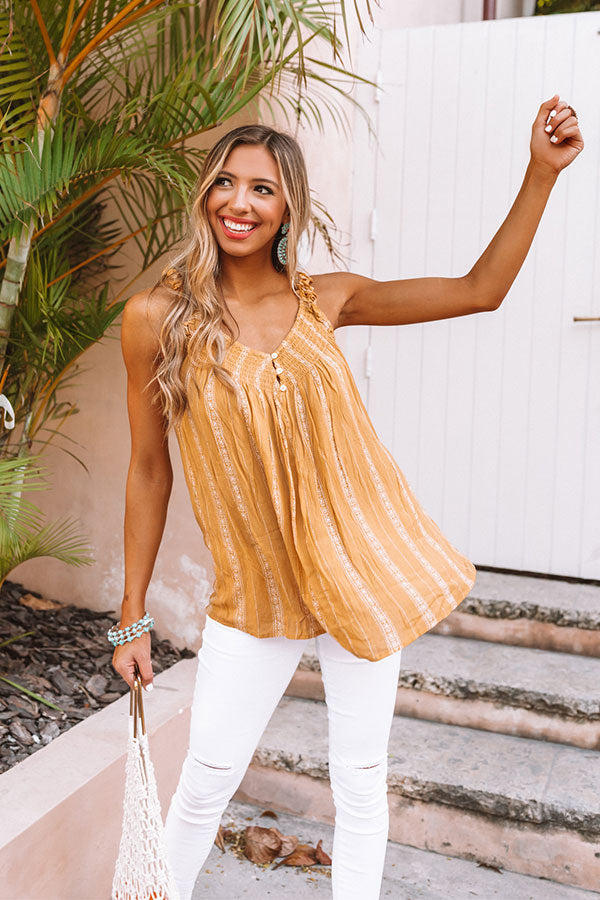 Sweet Shores Shift Tank in Primrose Yellow