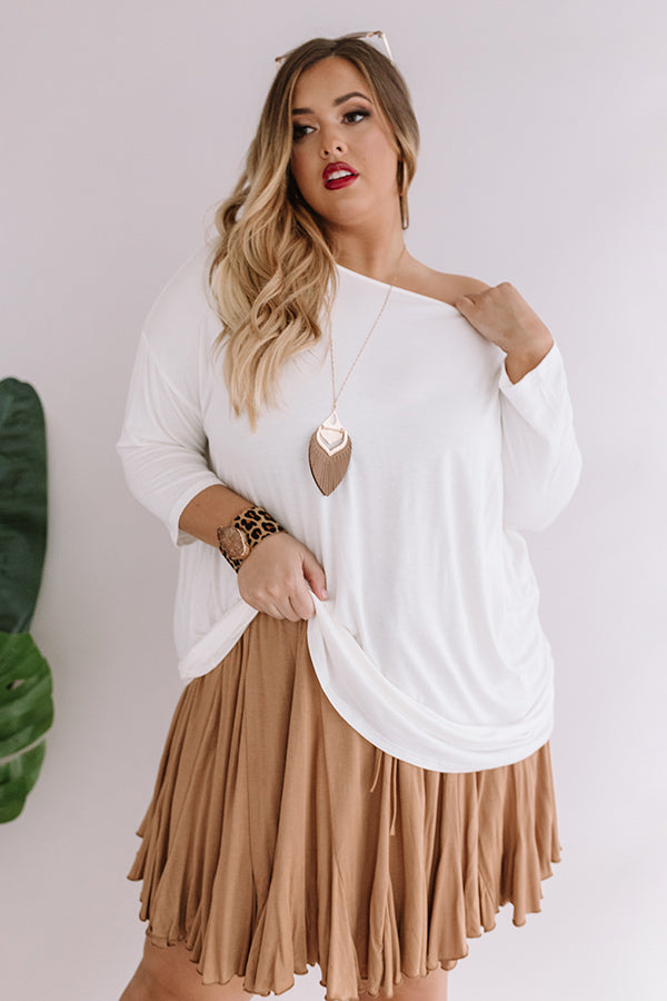Whirland Wonderful Shift Top In White