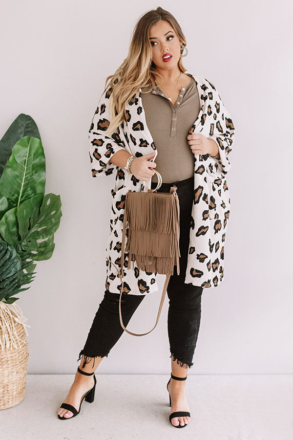 Breathtaking Views Leopard Cardigan
