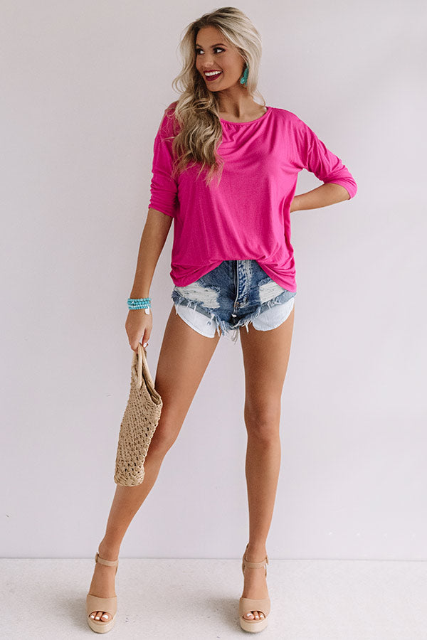 Whirland Wonderful Shift Top In Pink