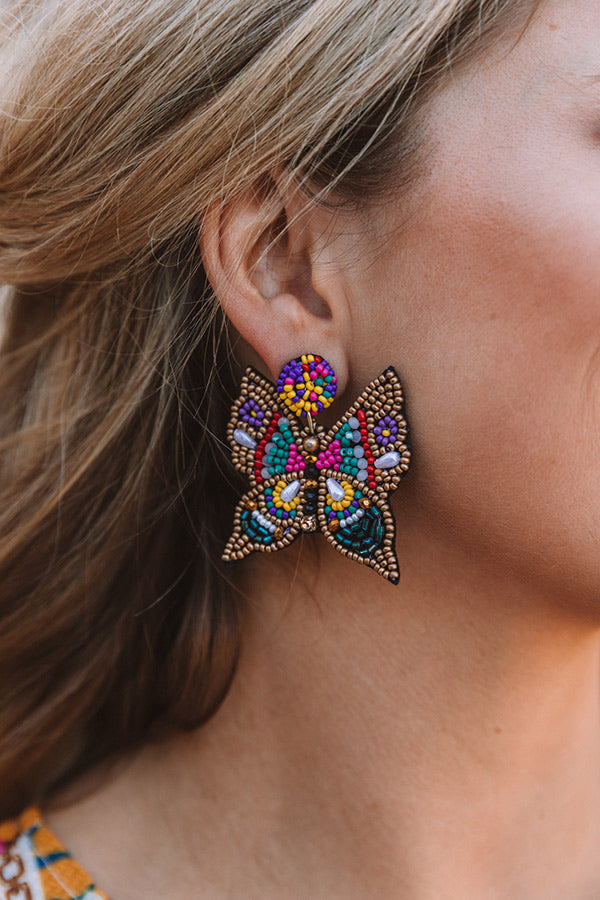 Pursuit Of Happiness Beaded Earrings In Multi