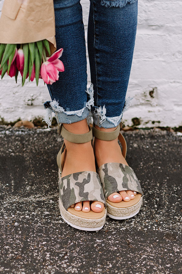 The Brighton Espadrille In Camo