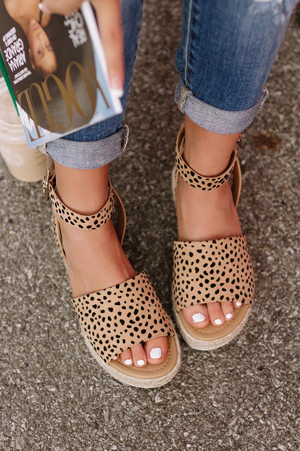 The Brighton Espadrille In Cheetah Print