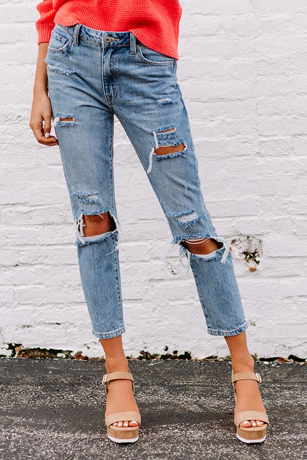 The Reece High Waist Destroyed Relaxed Skinny