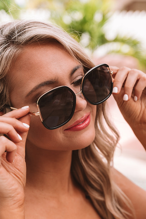 Tans And Tikis Sunnies In Black