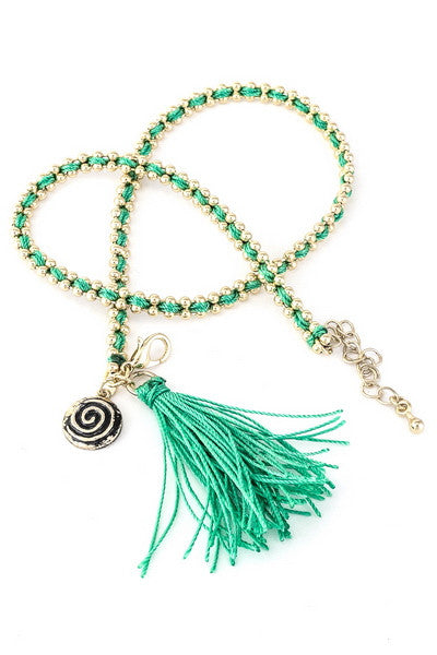 Live The Life You Love Bracelet in Green